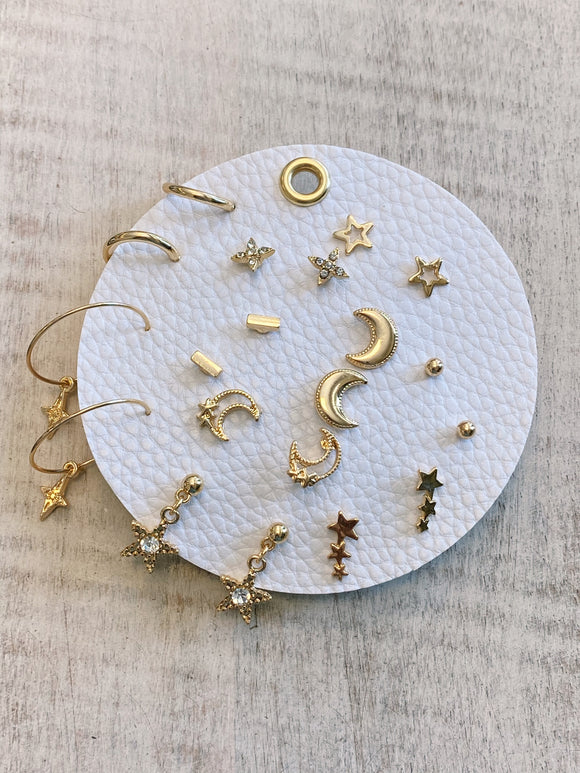 Earring Set - Gold