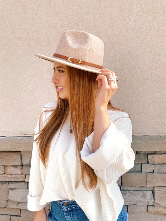 Panama Leather Belt Hat - 3 Colors