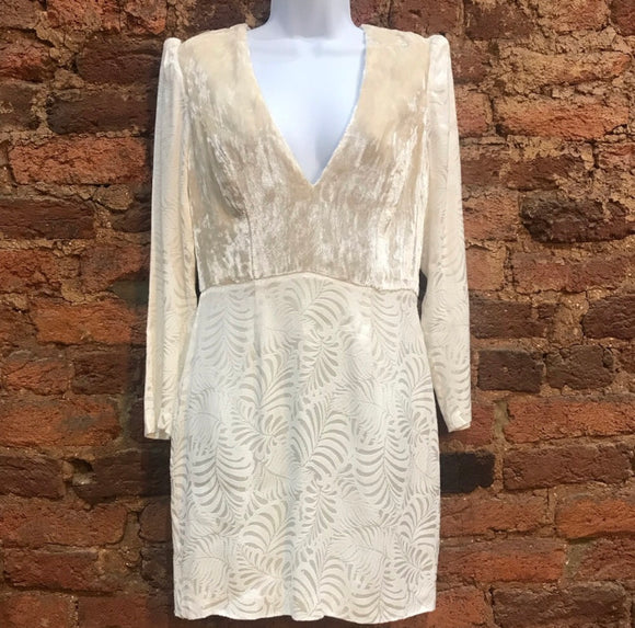 "Free People Velvet L/S ""Jacquard""Dress - NWT (8)"