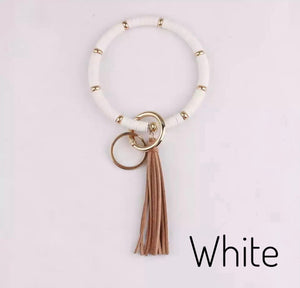 Beaded O Key Ring w/Tassel