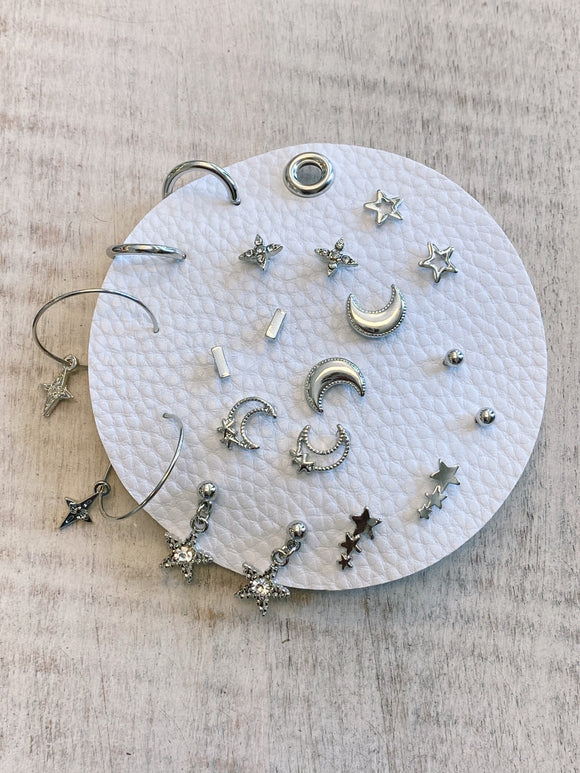 Earring Set - Silver