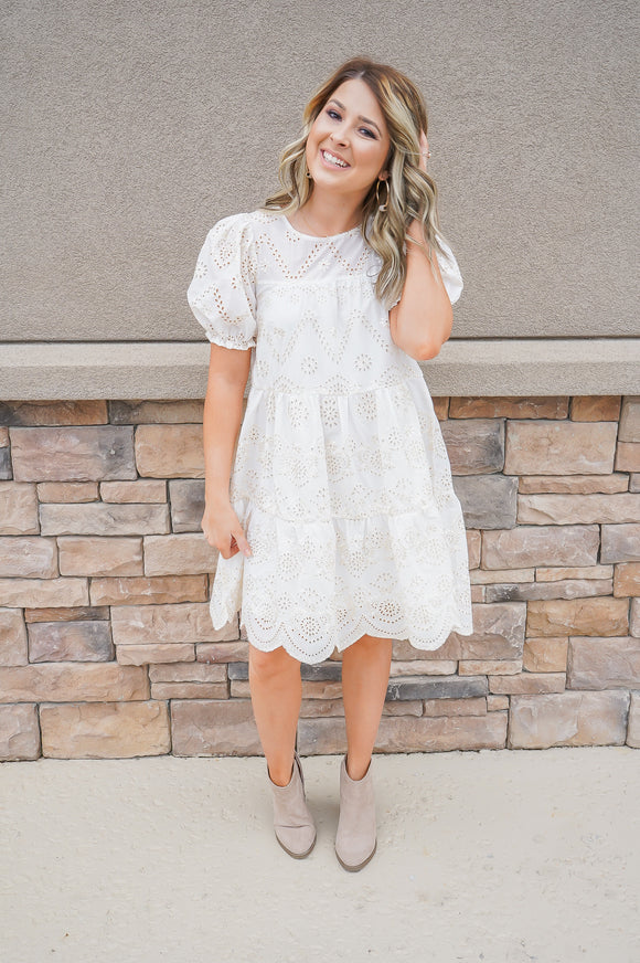 Moon River Eyelet Dress