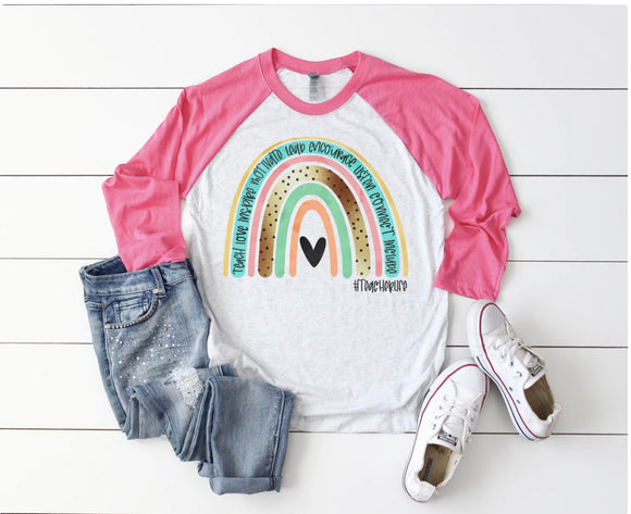 Teacher Rainbow Raglan