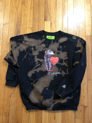 Lovestronaut 2.0 Spaced bleached Crewneck