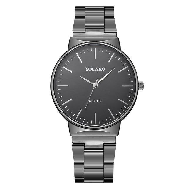 Classic Watch With Stainless Steel Band - watch-yes