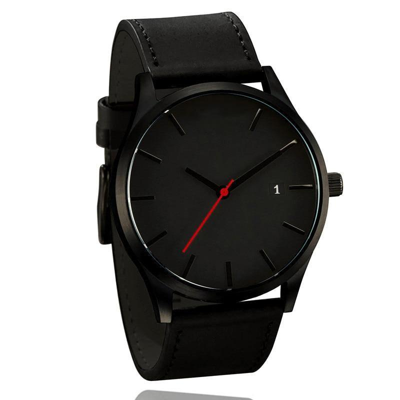 Stylish Simple Watch With Leather Band - watch-yes