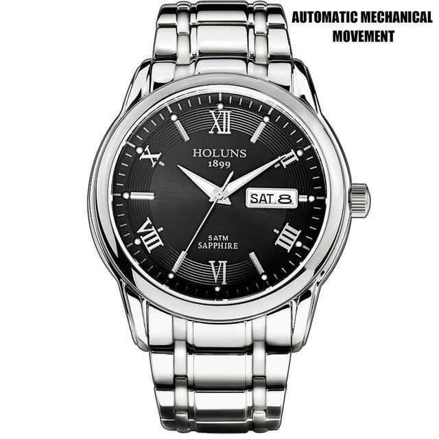 Full Stainless Steel Classic Watch With 5ATM Waterproof - watch-yes