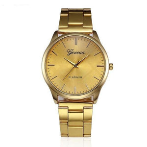 Classic Quartz Watch With Stainless Steel Band - watch-yes