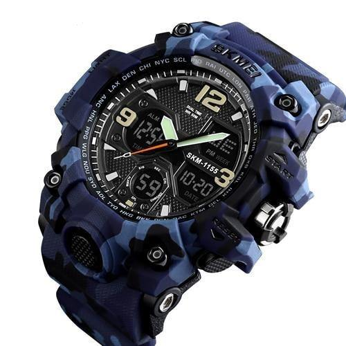 Military Watch With Dual Display - watch-yes