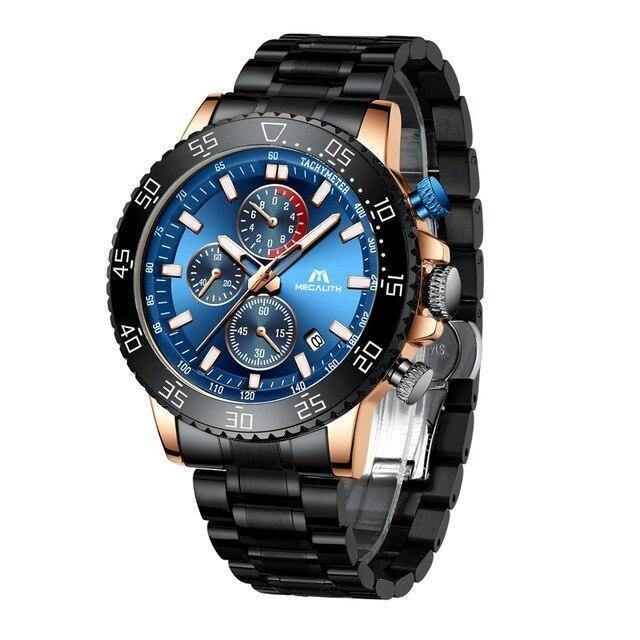 Stainless Steel Band Waterproof Casual Watch - watch-yes