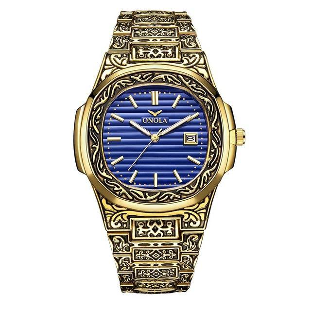 Golden Fashion Wristwatch - watch-yes