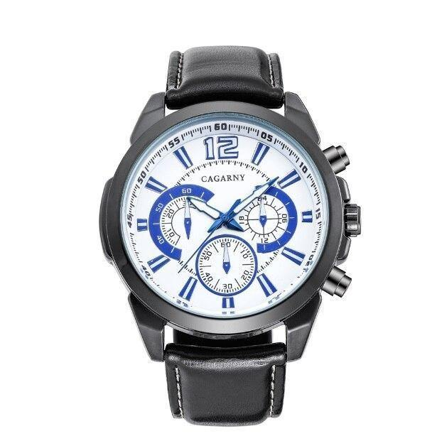 Stylish Casual Watch With Leather Strap - watch-yes
