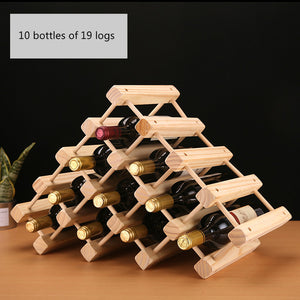 Solid Wooden Wine Rack