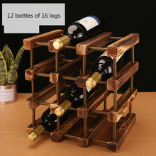 Load image into Gallery viewer, Solid Wooden Wine Rack
