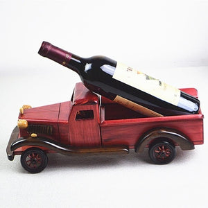 Old Fashioned Truck Wine Bottle Holder