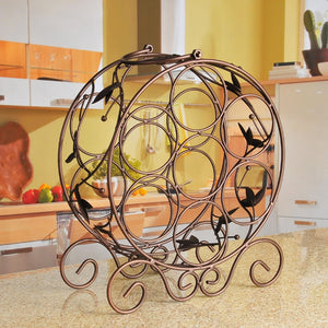 7 Bottle Metal Wine Rack