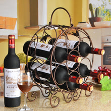 Load image into Gallery viewer, 7 Bottle Metal Wine Rack