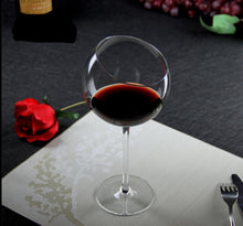 Load image into Gallery viewer, Slant Cut Wine Glass