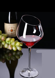 Slant Cut Wine Glass