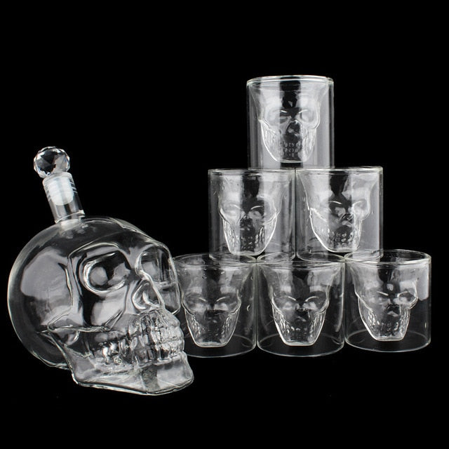 Crystal Skull Decanter & Glass Set 700ml