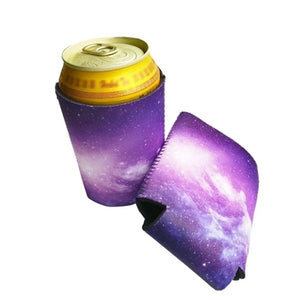1pc Galaxy Print Beer Sleeve