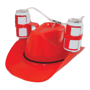 Red Cowboy Drinking Hat