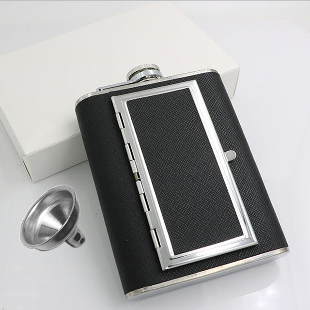 5/6 Ounce Stainless Steel Flask with Compartment