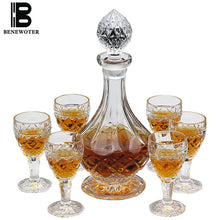 Load image into Gallery viewer, 6 Piece Whiskey Decanter & Glass Set