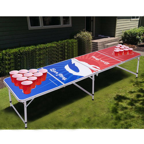 Giantex 8FT Portable Indoor Folding Beer Pong