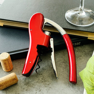 Bottle Corkscrew Opener, with Built-in Foil Cutter