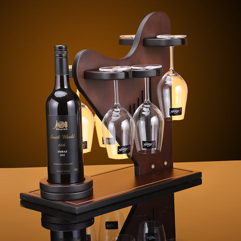 Harp Wine Bottle & Glass Holder