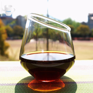 Slanted Stemless Wine Glass