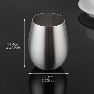 Stemless & Stainless Wine Glass