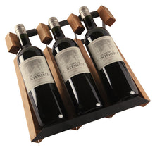 Load image into Gallery viewer, Wooden 3 Bottle Wine Rack