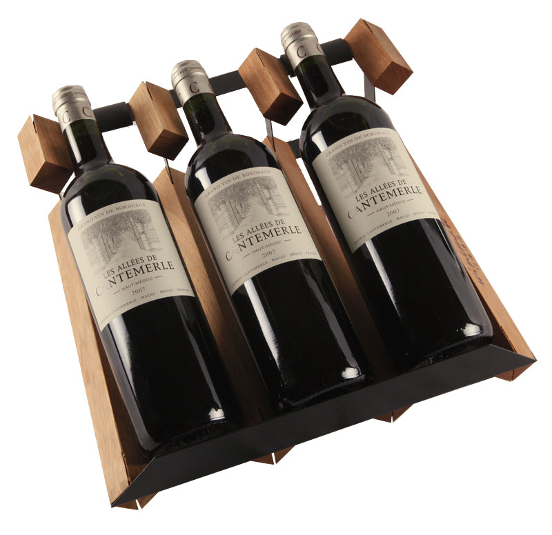 Wooden 3 Bottle Wine Rack