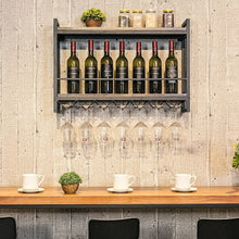 Load image into Gallery viewer, Strong Wall Hanging Wine Rack With Glass Rack