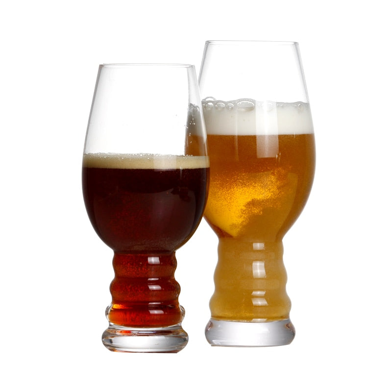 Set of 2 17 ounce crystal beer glass