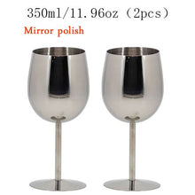 Load image into Gallery viewer, 2PCS 350ml Stainless Steel Wine Glass