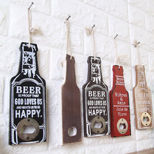 Load image into Gallery viewer, Wooden Beer Bottle Opener
