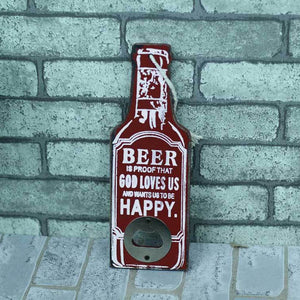 Wooden Beer Bottle Opener