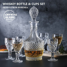 Load image into Gallery viewer, Crystal Whiskey Decanter & Glass Set