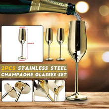 Load image into Gallery viewer, 2Pcs/set Stainless Champagne Flute
