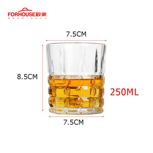 Squared Pattern Whiskey Glass