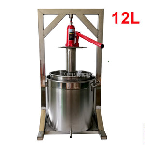 12L Capacity Stainless Steel Fruit Press