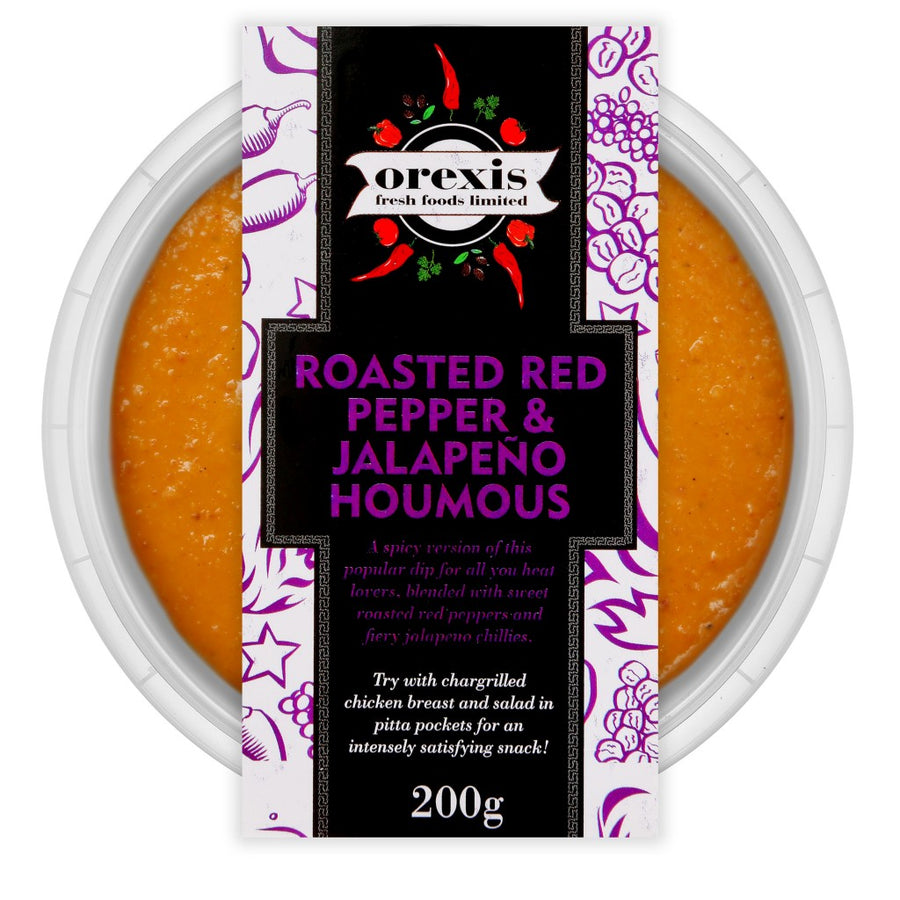 Roasted Red Pepper & Jalapeno Houmous 200g - Food Republic Services Ltd.