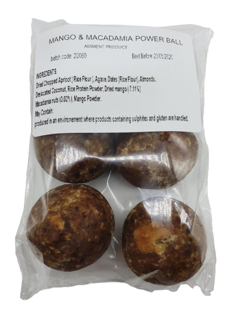 Protein Balls (Mango & Macadamia) - 6 Balls - Food Republic Services Ltd.