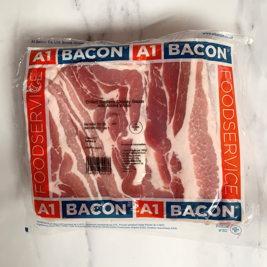 A1 Unsmoked Streaky Bacon - 2.27kg