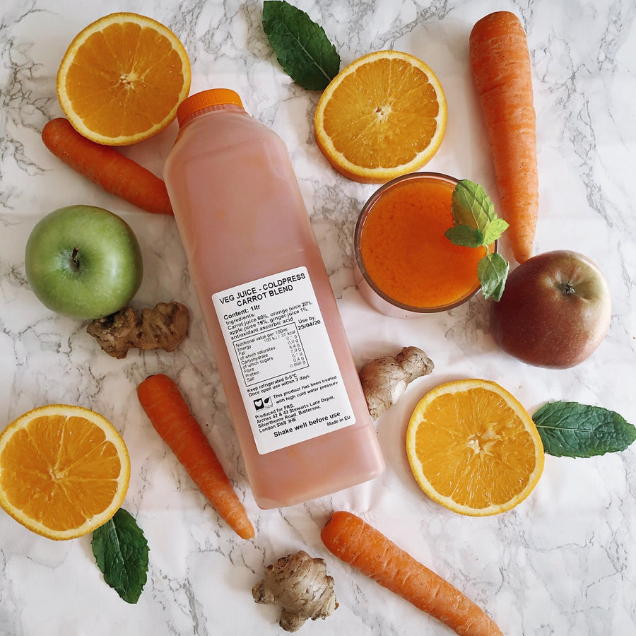 Coldpressed Orange, Carrot & Ginger - 1ltr - Food Republic Services Ltd.