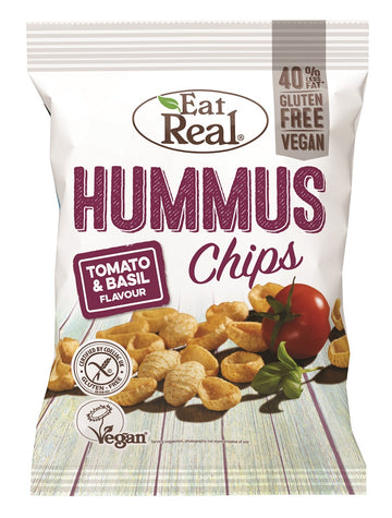 Eat Real Basil & Tomato Homous Chips - 12 x 30g - Food Republic Services Ltd.