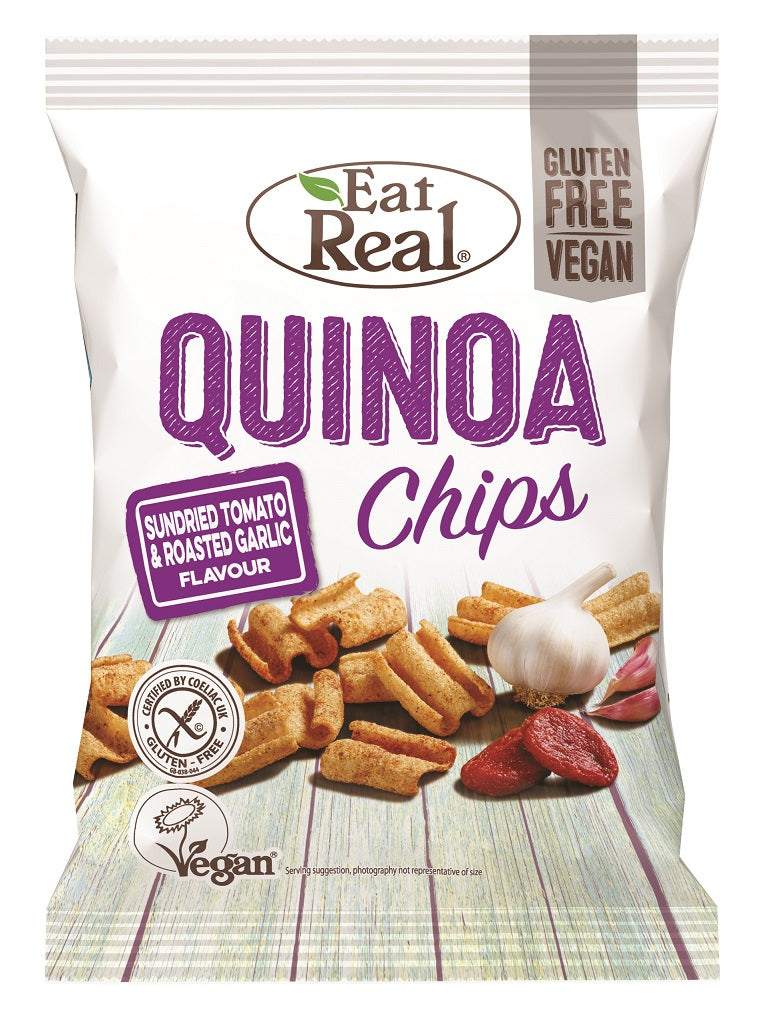 Eat Real Tomato & Garlic Quinoa Chips - 12 x 30g - Food Republic Services Ltd.